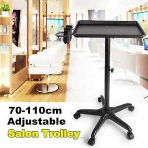 Mobile Medical Adjustable Height Mayo Tray Stand Trolley Doctor Salon Equipment