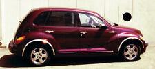 """2001-2010 Chrysler PT Cruiser Stainless Steel Fender Trim Moldings 1.6"""" Wide"""