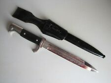 Wwii Wkc German K98 Etched Blade Dagger Knife Dress Bayonet w/Scabbard & Frog