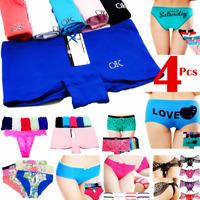 4 Women Panties Brief Underwear Boyshorts Body Shaper Shapewear Cotton Bikini US