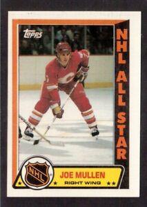 TOPPS 1989-90 STICKERS # 5 JOE MULLEN, CALGARY FLAMES !! D3