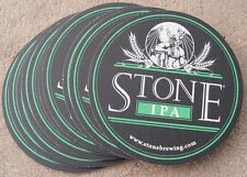 Lot of 10 Stone IPA Micro Beer 2 Sided Coasters NEW Mat Bar Pub CA Pale Ale