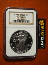 ULTRA RARE! 1997 P PROOF SILVER EAGLE NGC PF69 CAMEO CLASSIC BROWN LABEL
