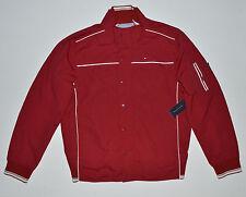 NWT TOMMY HILFIGER men's Jacket, Large, L, Red Brick, Full Zip & Snaps