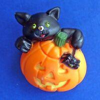 BUY1&GET1@50%~Easter Unltd PIN Halloween CAT Black JOL PUMPKIN SPIDER Vtg BROOCH