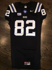 Game Worn Duke Blue Devils Football Jersey Used Nike #82 Size L