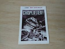 CHOPLIFTER Game Manual Only - Atari 7800 PAL book Instructions chop lifter