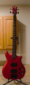 KAWAI FIIB Alembic copy bass guitar Red Good condition all original