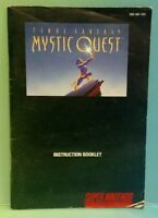 Fantasy Mystic Quest - Super Nintendo SNES - Instruction MANUAL ONLY - No Game!