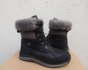 UGG BLACK ADIRONDACK III WATERPROOF SNOW WINTER BOOTS, WOMEN US 8/ EUR 39 ~NEW