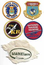 AIR FORCE Maineiacs Lot of 5 Aviation Patches National Soaring Museum FLY KR