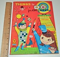 Vintage Things To Do For Children Coloring Activity & Book 1969 Lowe #4950 NOS