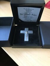 SILVER CRUCIFIX - 2oz High Relief Antique Finish Silver Cross with Lord's Prayer