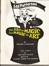 EDD PATTERSON THE ART OF HIS MAGIC MAGIC OF HIS ART by William Rauscher  Signed