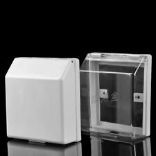 Waterproof Electrical Outlet Cover Transparent White Square Box High Quality New