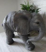 Tolle GARTENFIGUR ELEFANT Metall Skulptur Windlicht Dekoration FIGUR ü5ü400 3734