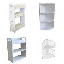 White Wooden Storage Shelf Bathroom Kitchen Shower Organizer Caddy Racks Storage