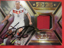 Podolski # signiert # Panini SELECT STARS duo jersey Trikot Card 196/199 Germany