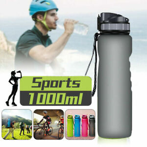 1000ml Sports Water Bottle BPA Free Plastic Running Drinks For Adults & Kids