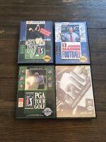 Sega Genesis Video Game Lot Of 4 Games Ballz PGA And NFL