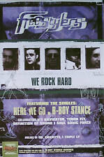 Freestylers 1999 We Rock Hard Promo Poster Original