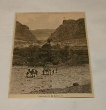 1879 magazine engraving ~ GORGE OF EL KANTARAH, Egypt