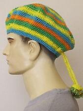 """Hecho a mano = Crochet Color Tam 11"""" con motas = Un tamaño = Sombrero 0040"""