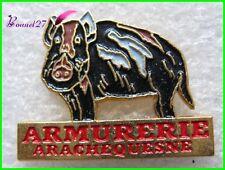 Pin's Armurerie Arachequesne Un Sanglier Chasse Boar #G4