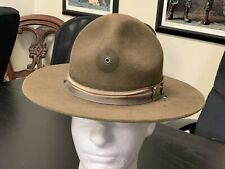 "Military ""Smokey The Bear"" style Brown Wool Hat - Size Small - 21 1/2"" head."