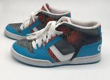 Osiris NYC 83 Mid Girls blue multi skateboarding womens athletic shoes Size8  #2