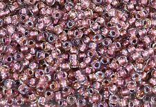 6/0 Inside-Color Crystal/Rose Gold-Lined TOHO Round Seed Beads 15 Grams  #267