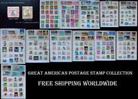 Great American Postage Stamp Collection US, Free Shipping Worldwide