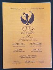 ARARAT ARMENIA DINAMO GEORGIA FOOTBALL SOCCER PROGRAM UEFA CUP QUALIFYER 1997