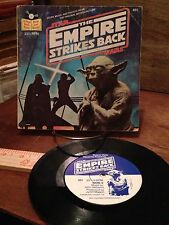 EMPIRE STRIKES BACK Star Wars 1980 Vintage 33 1/3 RPM Read Along Book & Record