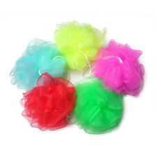 5 PCS Bath Sponge Mesh Ball Scrunchie Body Wash Scourer Exfoliate Puff Random
