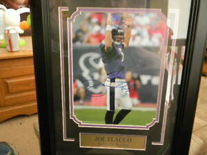 Joe Flacco SIGNED Plaque Baltimore Ravens Autographed