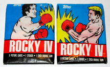 PAIR of ROCKY IV BLUE Wax Packs Cards Topps 1985 Sylvester Stallone v Ivan Drago