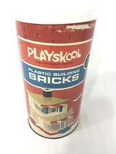 Vintage Playskool Plastic Building Bricks (Milton Bradley, 1970)