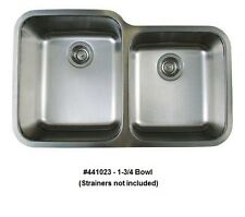 BLANCO 441023 STELLAR 1-3/4 Bowl Undermount Stainless Steel Kitchen Sink