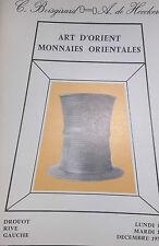 1976 Catalogue de Vente Drouot Art d Orient Monnaies Orientales