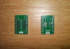5x SMD Adapterplatine SO20 (1,27mm) / SOP20 (0,65mm) FR4-Industriequalität