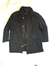 ANDREW MARC x RICHARD CHAI Leather Wool Removable Lining Black Coat Sz XL