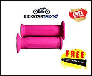 For Honda CRF50F XR50 Pink Handgrips Grips Free Glue Free Post XR CRF 50