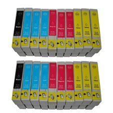 20x TINTENPATRONEN für EPSON DX6000 DX6050 DX7400 DX7000f DX7450 DX8450 DX9400F