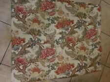 "Pottery Barn ""Red/Orange Floral"" Linen Lined Drape Panel 50 X 84 - 1 Panel"