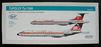 HpH Models 72012L Tupolev Tu-134A - DDR INTERFLUG-  - 1:72 Bausatz Resin Kit 134