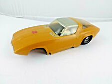 Cox vintage 1 24 scale slot car Yellow with Driver parts/repair see photos