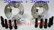 KIT 4 DISTANZIALI RUOTA 20+20mm ALFA ROMEO 147 Bullone CONICO BLACK