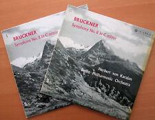 33CX 1586-7 BRUCKNER SINFONIA N. 8 Karajan 2xLP COLUMBIA ED1 b/oro