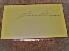 Sam Snead Autographed Index 3X5 YELLOW Card